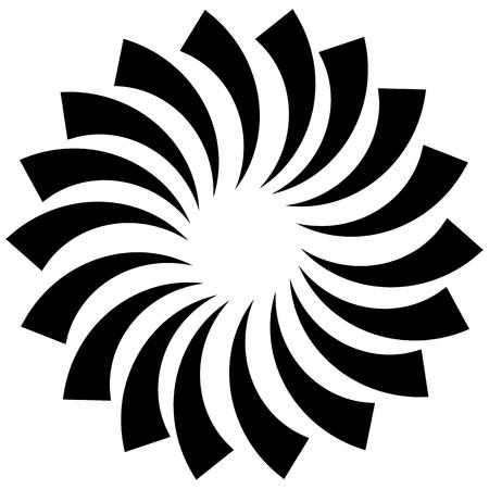 spiralling: Spiral, vortex, swirl or twirl abstract monochrome graphic. Vector.