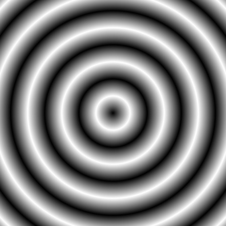deceptive: Abstract monochrome graphic with circular, circle pattern.