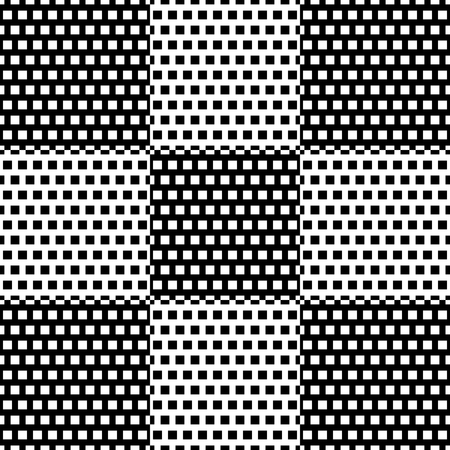 Black and white checkered pattern with square pattern