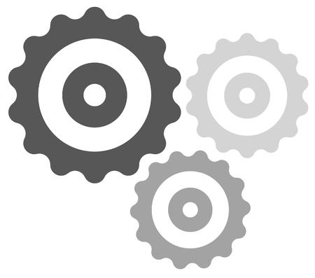 Gear wheel, cog wheel vector on white