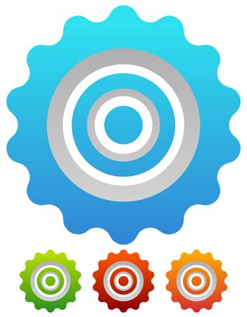 cog wheel: Gear wheel, cog wheel vector on white