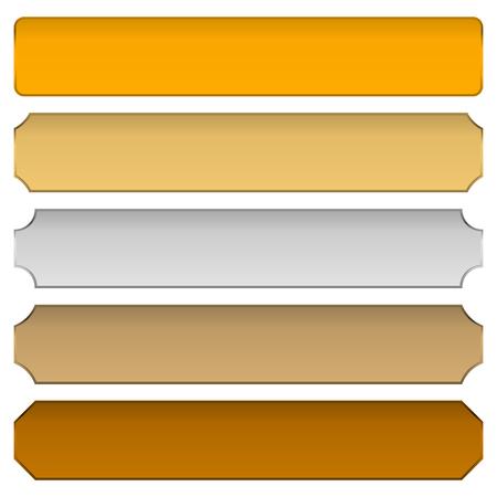 plaques: gold, silver, bronze metal plaques, plaquettes, plates