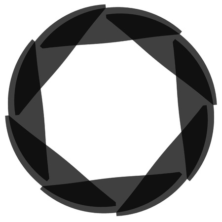 spinning: Abstract circular element. Spinning, swirling forms, shapes. Single black motif isolated on white.