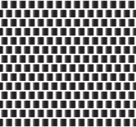 Repeatable pattern. Black squares with gradient fills.