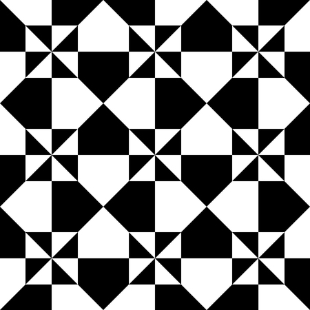 tile flooring: Tile of a repeatable pattern with squares. Illustration