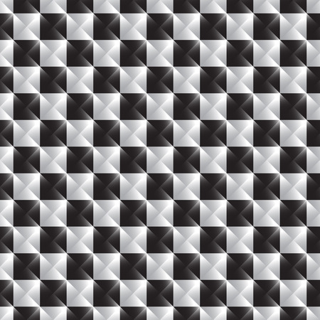 abstractionism: Checkered abstract pattern. Geometric, monochrome squares pattern.