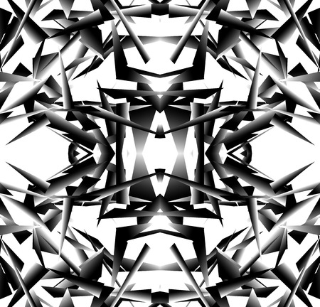 abstractionism: Abstract black and white artistic vector image. Repeatable