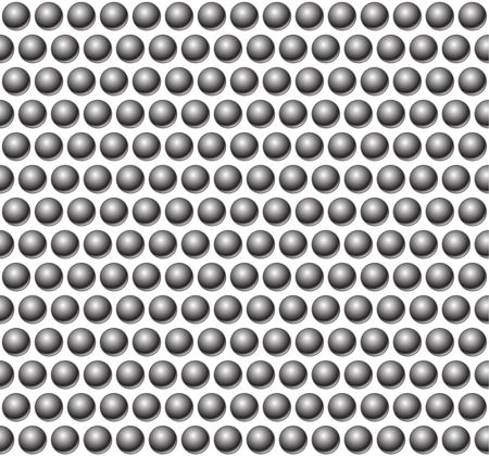studs: Beads, studs or bolts pattern. Seamless pattern with circles. Illustration