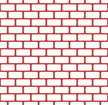 Brick wall, stone wall seamless vector pattern