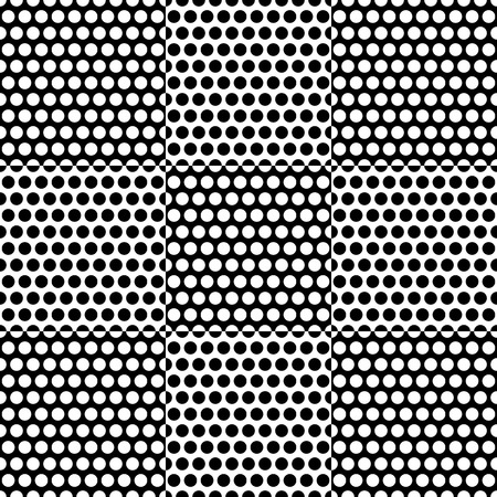 checkered pattern: Black and white checkered pattern with circle pattern