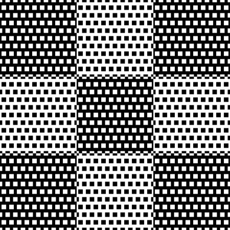 monocrome: Black and white checkered pattern with square pattern