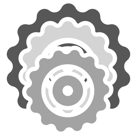 developement: Gear wheel, cog wheel vector on white