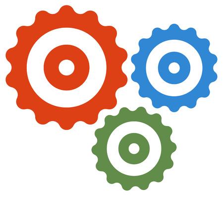 rackwheel: Gear wheel, cog wheel vector on white