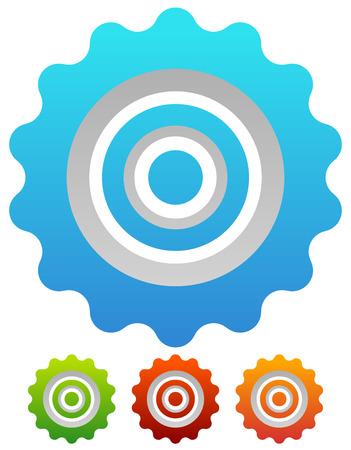 pinion: Gear wheel, cog wheel vector on white