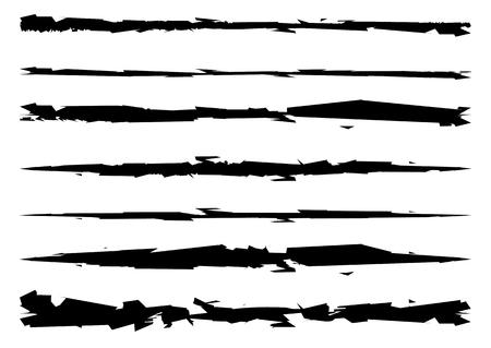 Sucio, trazos de pincel con textura, rip, vector cero Foto de archivo - 48276897