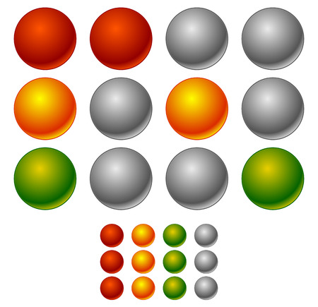 se�ales de transito: Conjunto de los sem�foros, el tr�fico de l�mparas en secuencia Vectores