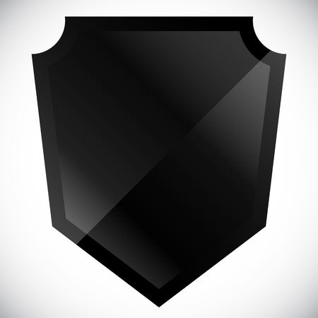 sheild: Blank black shield shape with gloss effect Illustration