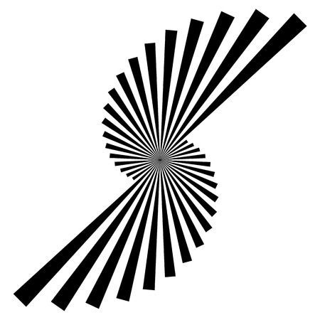 converging: Isolated radiating, converging, bursting lines. Abstract black and white graphics. Illustration