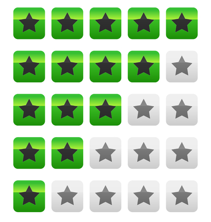 star rating: Star rating vector. Star rating wih squares.