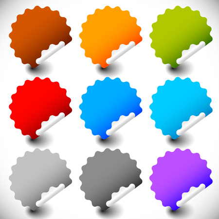 peeling: Blank peeling sticker set with more colors.