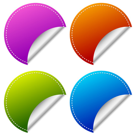 clean off: Blank peeling sticker set with more colors.