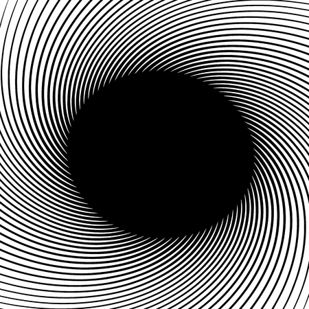 amorphous: Abstract monochrome graphics with spirally shape. Abstract swirl, twirl image.
