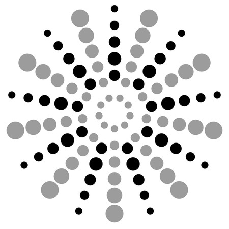 dotted: Dotted monochrome motif. abstract dotted vector element.
