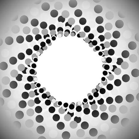abstractionism: Abstract background with circles, dots. Vector art.