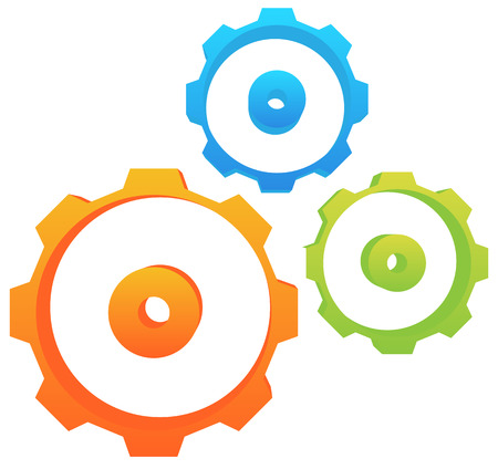 Abstract gear wheel, gear, cogwheel graphic. Vector. Illustration