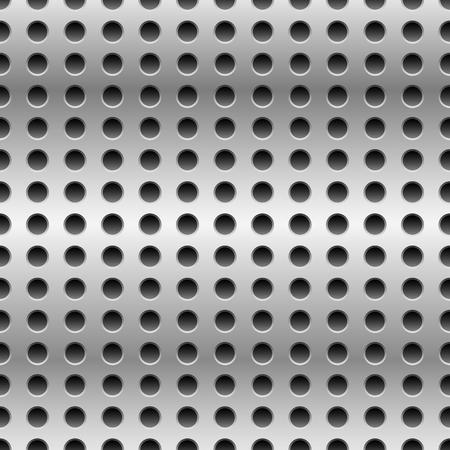 metal grate: Punched metal seamless pattern, background. Vector illustration. Illustration