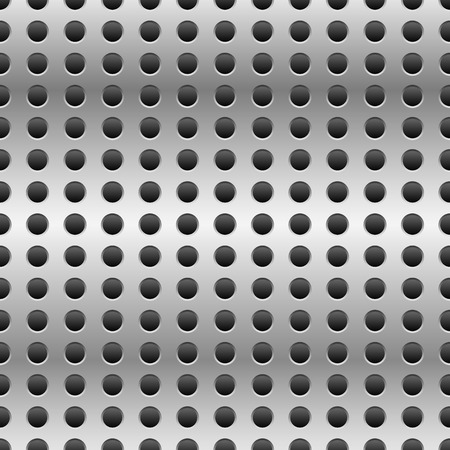 metalic sheet: Punched or perforated metal pattern with circle holes. Repeatable.