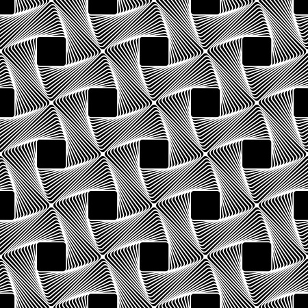braided: Seamless pattern with intertwined, braided, connected lines texture. Vector art.