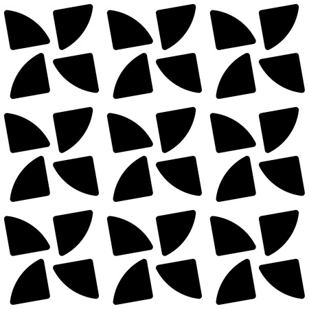 repeatable: Repeatable pattern with rotating shapes. Seamless vector art.
