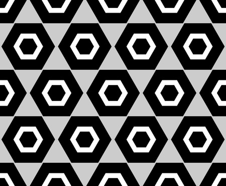 seamlessly: Grayscale pattern with octagon shapes. Seamlessly repeatable.