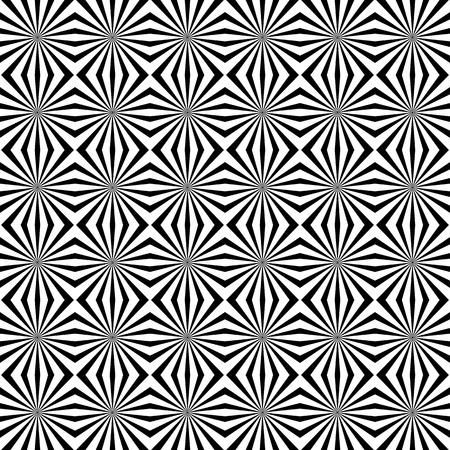 radiating: Seamless pattern with radiating lines, starburst texture. Vector art.