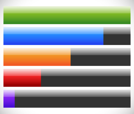 rating gauge: Bars with different levels. Progress, loading bars.