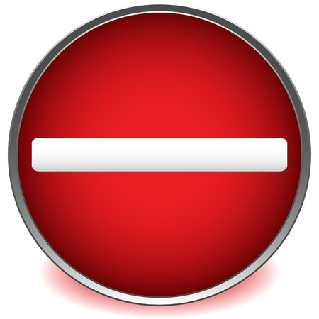 no way out: Red prohibition, restriction road sign vector on white.
