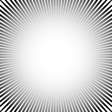 radiating: Abstract starburst, sunburst graphic. Converging, radiating lines.