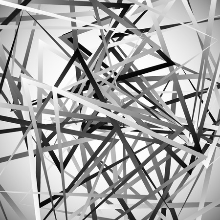 abstractionism: Abstract monochrome background with triangle shapes. Vector art. Vectores