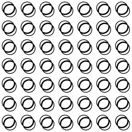 interlocking: Seamless pattern with interlocking circles. Vector art.
