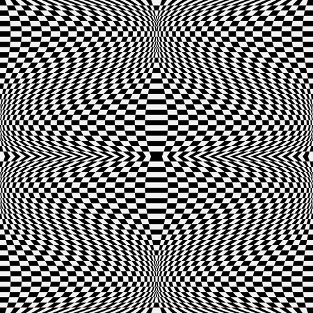 hypnotism: Abstract pattern with strong distortion effect. Vector art. Vectores