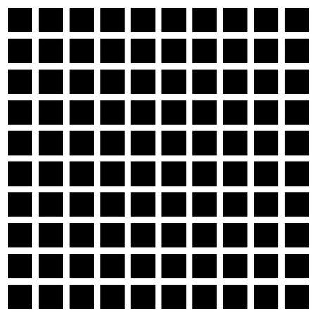 abstractionism: Simple mesh of black squares on white. Vector art.