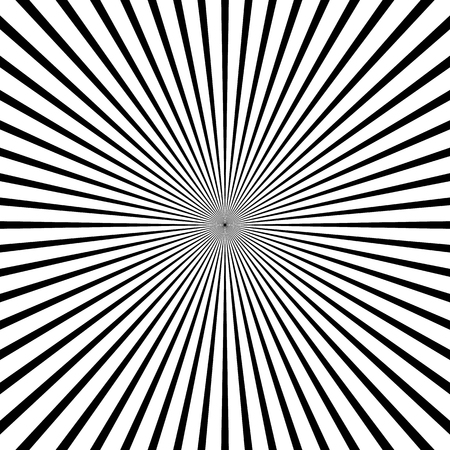 radiating: Abstract starburst, sunburst graphic. Converging, radiating lines.