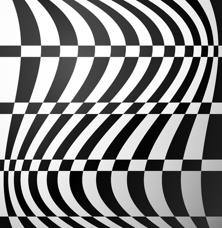 anomalous: Checkered pattern with distortion effect. Vector art. Illustration