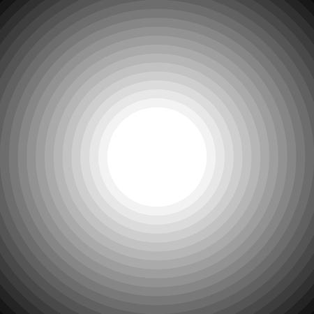circulos concentricos: Mezclas de c�rculos conc�ntricos en escala de grises fondo blanco. Arte del vector.