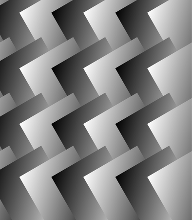abstractionism: Grayscale pattern with rectangles overlapping. Vector art. Vectores