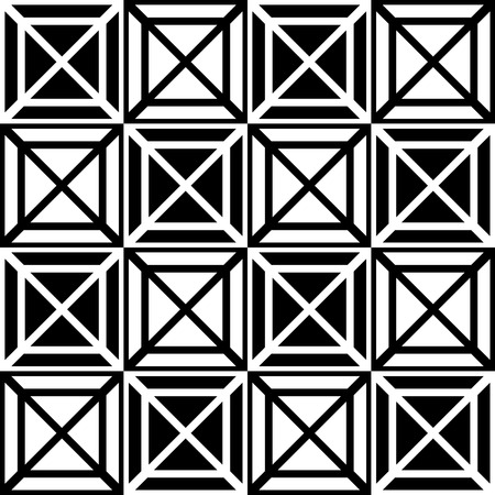 Contrasty seamless pattern with squares. Vector art.