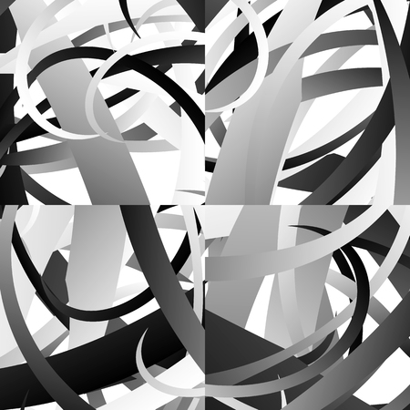 abstractionism: Abstract artistic monochrome background, pattern. Editable vector. Vectores