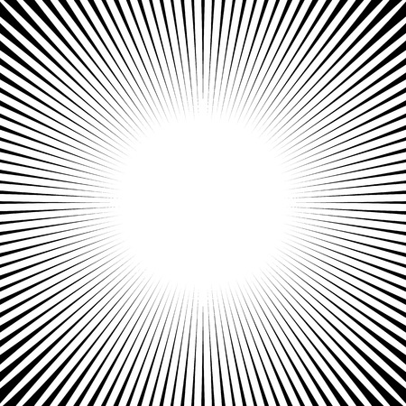 Abstract starburst, sunburst graphic. Converging, radiating lines.