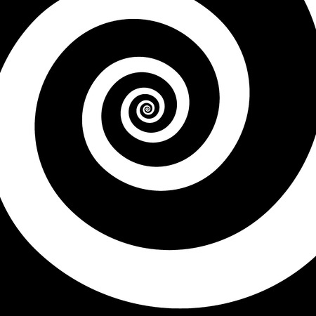 Rotating spiral graphic. Swirling, whirling abstract image. Illustration